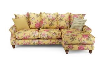 Ellie Floral Right Hand Facing 4 Seater Chaise End Sofa Ellie Floral