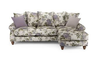 Floral Right Hand Facing 4 Seater Chaise End Sofa