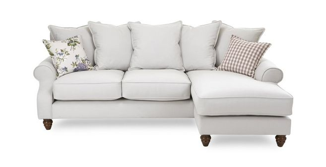 Ellie: Plain Right Hand Facing 4 Seater Chaise End Sofa