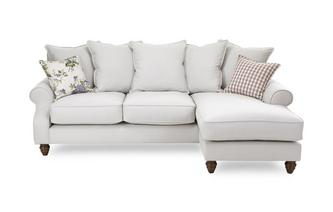 Plain Right Hand Facing 4 Seater Chaise End Sofa Ellie Plain