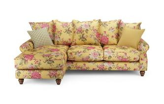 Ellie Floral Left Hand Facing 4 Seater Chaise End Sofa Ellie Floral