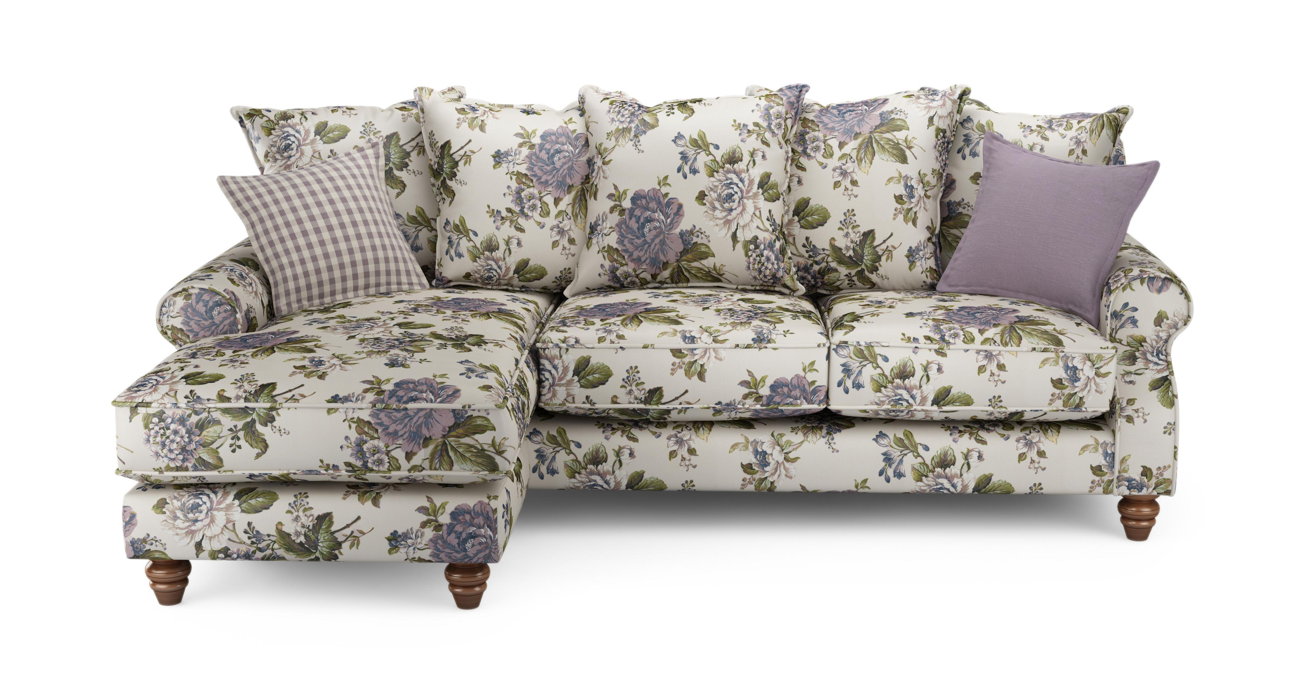Ellie Floral Left Hand Facing 4 Seater Chaise End Sofa Ellie Floral Dfs