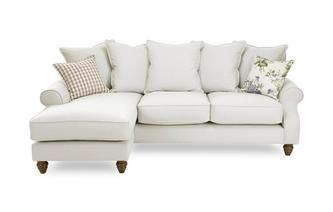 Plain Left Hand Facing 4 Seater Chaise End Sofa