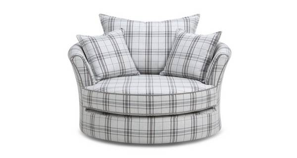 Elliott Plaid Swivel Chair