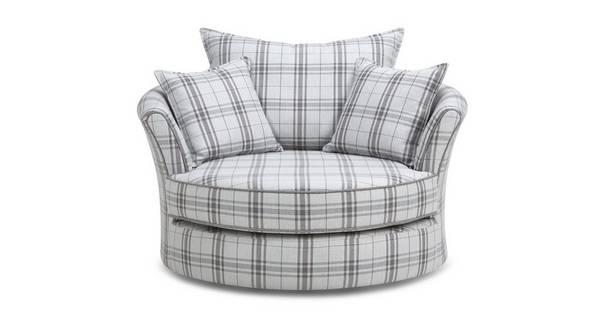 Elliott Plaid Swivel Chair