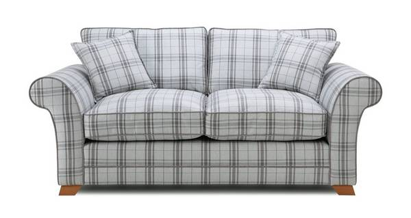Elliott Plaid 2 Seater Formal Back Sofa