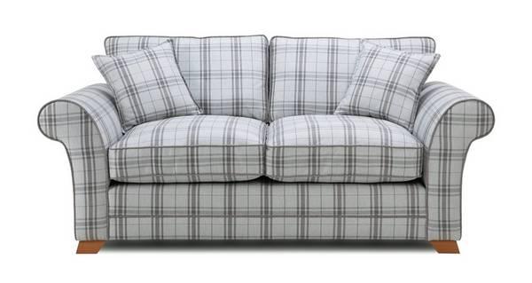 Elliott Plaid 2 Seater Formal Back Sofa