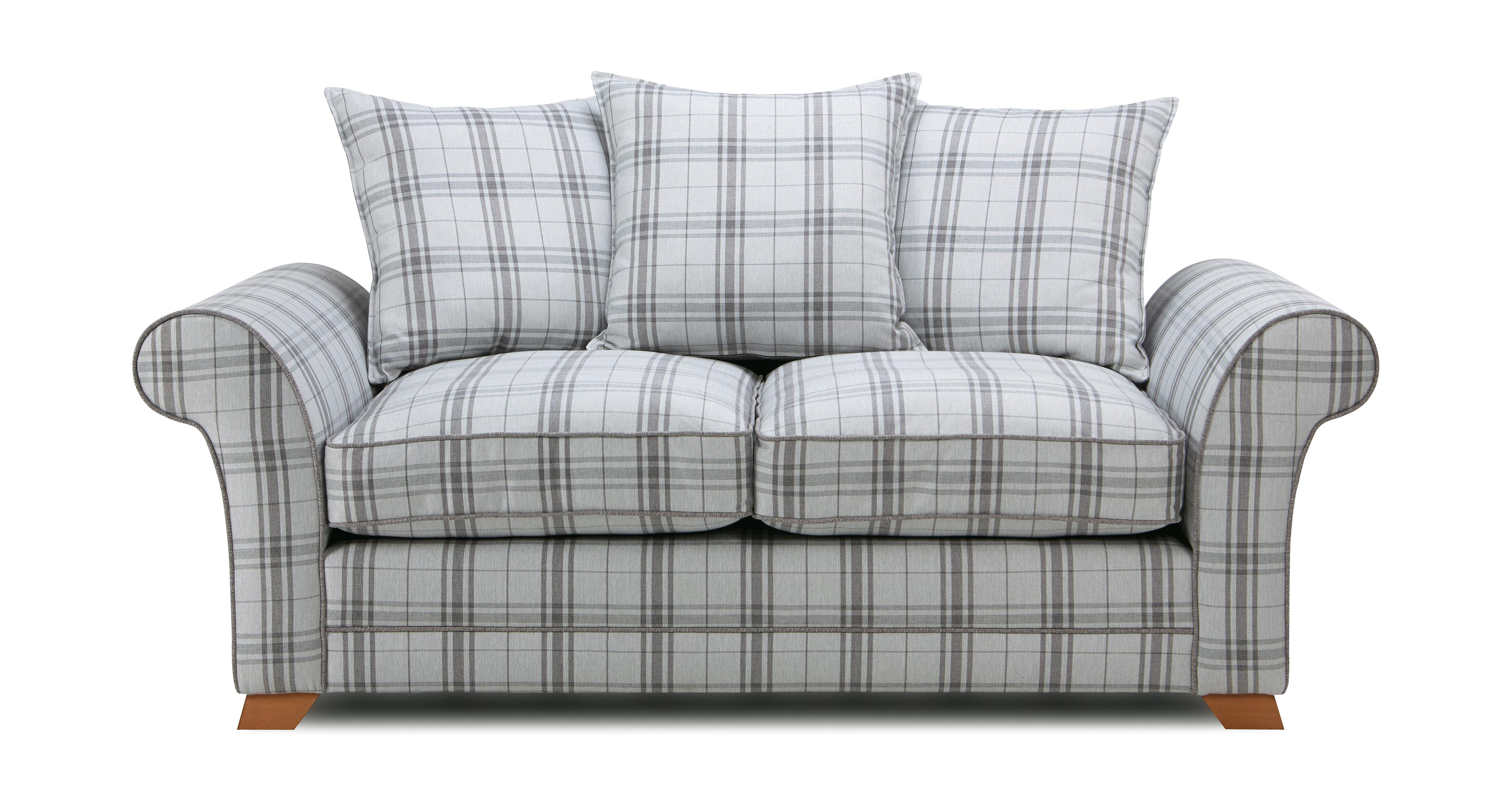 Elliott Plaid 2 Seater Pillow Back Sofa Arran | DFS