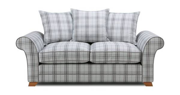 Elliott Plaid 2 Seater Pillow Back Sofa