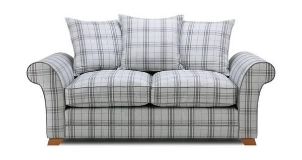 Elliott Plaid 2 Seater Pillow Back Sofa