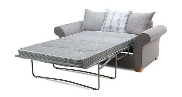 Elliott Plain 2 Seater Pillow Back Deluxe Sofa Bed