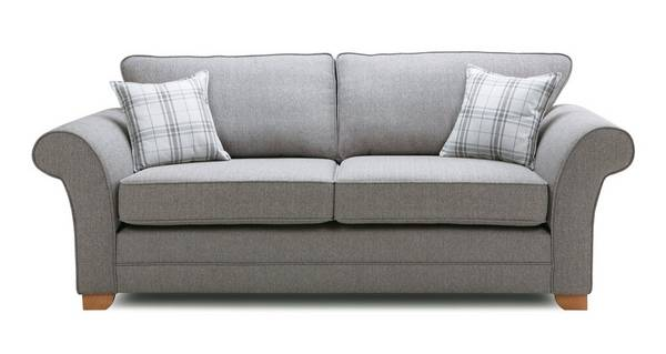 Elliott Plain 3 Seater Formal Back Sofa