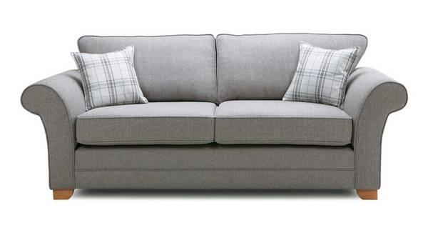 Elliott Plain 3 Seater Formal Back Sofa