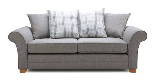 Elliott Plain 3 Seater Pillow Back Sofa