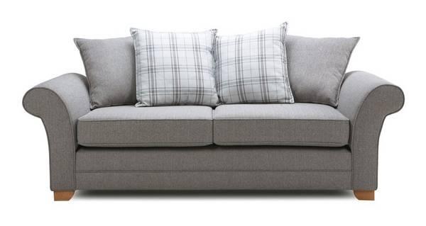 Elliott Plain 3 Seater Pillow Back Sofa