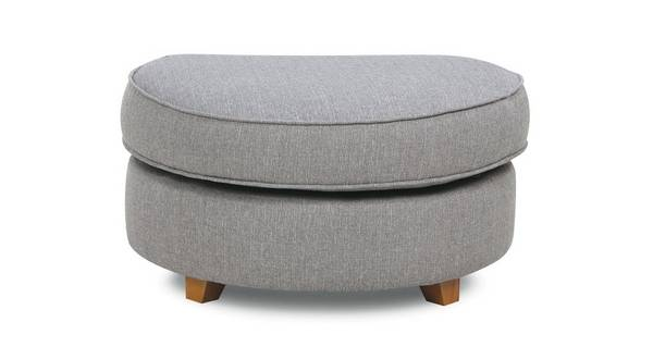Elliott Plain Half Moon Footstool
