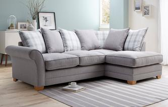 Elliott Plain Left Hand Facing Arm Pillow Back Corner Sofa Arran