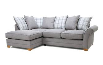 Charmant Plain Right Hand Facing Arm Pillow Back Corner Sofa
