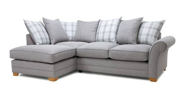 Elliott Plain Right Hand Facing Arm  Pillow Back Corner Sofa