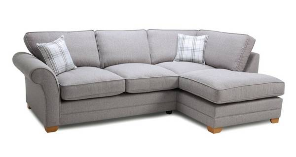 Elliott Plain Left Arm Facing Formal Back Corner Sofa Bed