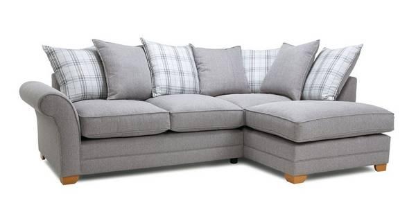 Elliott Plain Left Arm Facing Pillow Back Corner Sofa Bed