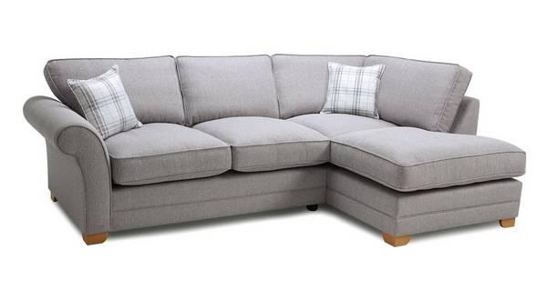 Elliott Plain Left Arm Facing Formal Back Deluxe Corner Sofa Bed