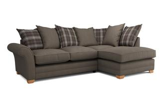 Elliott Plain Left Arm Facing Pillow Back Deluxe Corner Sofa Bed Arran