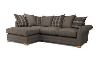 Elliott Plain Right Arm Facing Pillow Back Corner Sofa Bed Arran