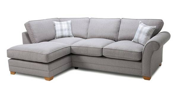 Elliott Plain Right Arm Facing Formal Back Deluxe Corner Sofa Bed