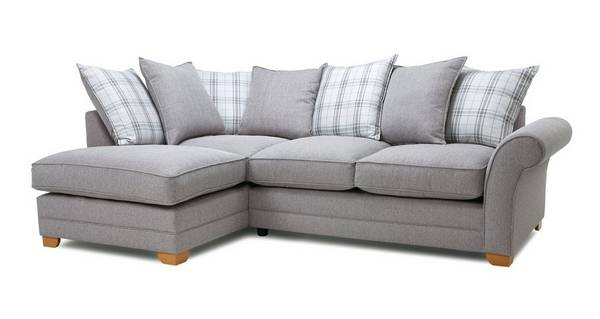 Elliott Plain Right Arm Facing Pillow Back Deluxe Corner Sofa Bed