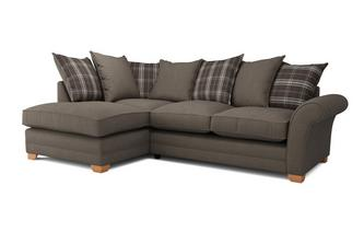Elliott Plain Right Arm Facing Pillow Back Deluxe Corner Sofa Bed Arran