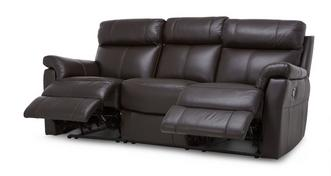 Ellis Leather and Leather Look 3 Seater Manual Recliner