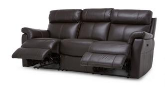 Ellis Leather and Leather Look 3 Seater Electric Recliner