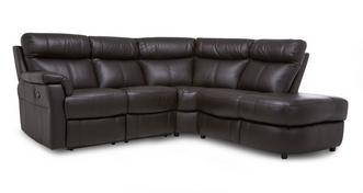 Ellis Option B Left Arm Facing 2 Piece Manual Recliner Open End Corner Sofa