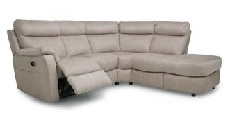 Ellis Fabric Option C Left Arm Facing 2 Piece Electric Recliner Corner Sofa