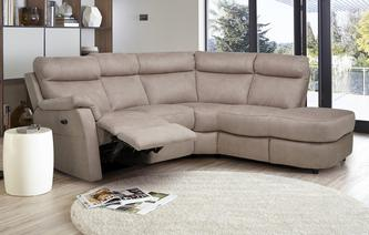 Ellis Fabric Option C Left Arm Facing 2 Piece Electric Recliner Corner Sofa Arizona