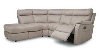 Ellis Option K rechtszijdige 2-delige handbediende recliner hoekbank