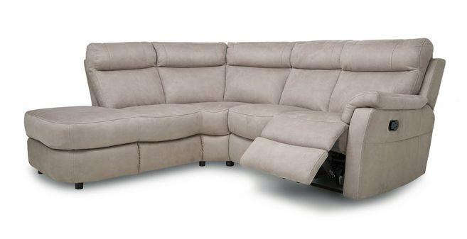 Ellis: Fabric Option K Right Arm Facing 2 Piece Manual Recliner Corner Sofa