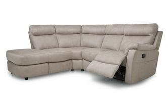 Fabric Option K Right Arm Facing 2 Piece Manual Recliner Corner Sofa