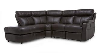Ellis Option K Leather and Leather Look Right Arm Facing 2 Piece Manual Recliner Corner Sofa