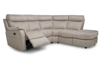 Fabric Option P Left Arm Facing 2 Piece Power Recliner Open End Corner Sofa
