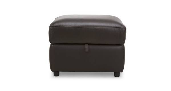Ellis Leather and Leather Look Storage Footstool