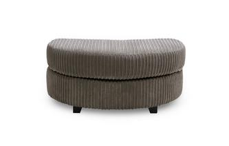Half Moon Footstool Crosby
