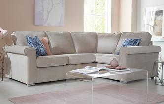 Elsie Left Hand Facing 2 Seater Corner Sofa Plaza