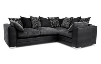 Pillow Back Left Hand Facing Supreme Corner Sofa Bed