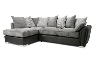 Pillow Back Right Hand Facing 3 Seater Open End Corner Sofa