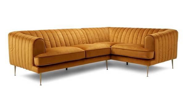 2 Seater Corner Sofa Sensual Velvet Dfs, L Shape Sofas Dfs