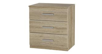 Encore 3 Drawer Bedside Chest