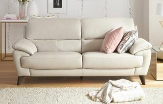 Eros Leather and Leather Look 3 Seater Sofa Premium
