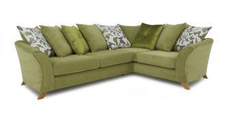 Escape Left Hand Facing 2 Piece Pillow Back Corner Sofa